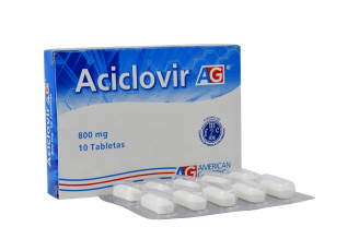Aciclovir 800 mg Caja Con 10 Tabletas Rx