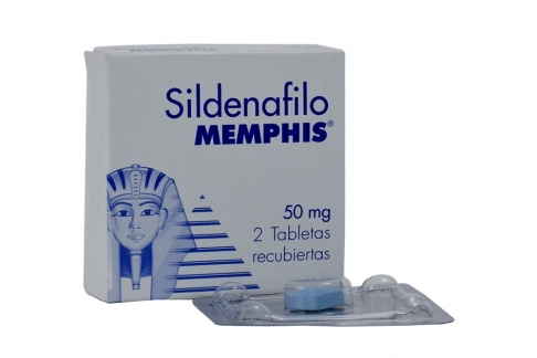 Sildenafilo Memphis 50 mg Caja Con 2 Tabletas Recubiertas Rx