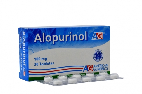 Alopurinol 100 mg Caja X 30 Tabletas Rx