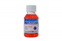Acetaminofen Frasco Con 90 mL - Sabor Cereza