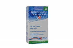 Beclometasona Dipropionato 50 mcg Caja Con Inhalador Con 200 Dosis Rx
