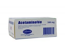 Acetaminofén 500 mg Caja X 100 Tabletas
