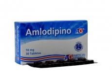 Amlodipino 10 mg Caja Con 30 Tabletas Rx
