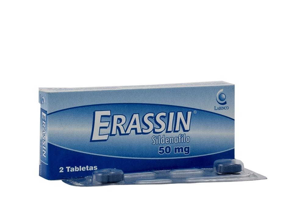 Erassin 50 mg Caja  Con 2 Tabletas Rx