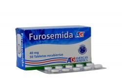 Furosemida 40 mg Caja x 50 Tabletas Rx