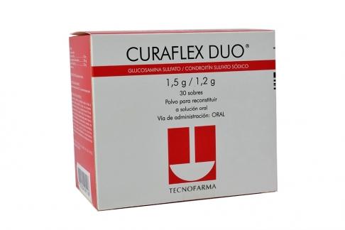 Curaflex Duo Polvo Para Reconstituir 1.5 / 1.2 g Caja Con 30 Sobres Rx4