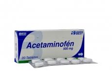 Acetaminofén 500 mg Caja Con 20 Tabletas