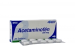 Acetaminofén 500 mg Caja x 20 Tabletas