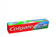 Crema Dental Colgate Triple Acción Menta Original Caja Con Tubo Con 75 mL