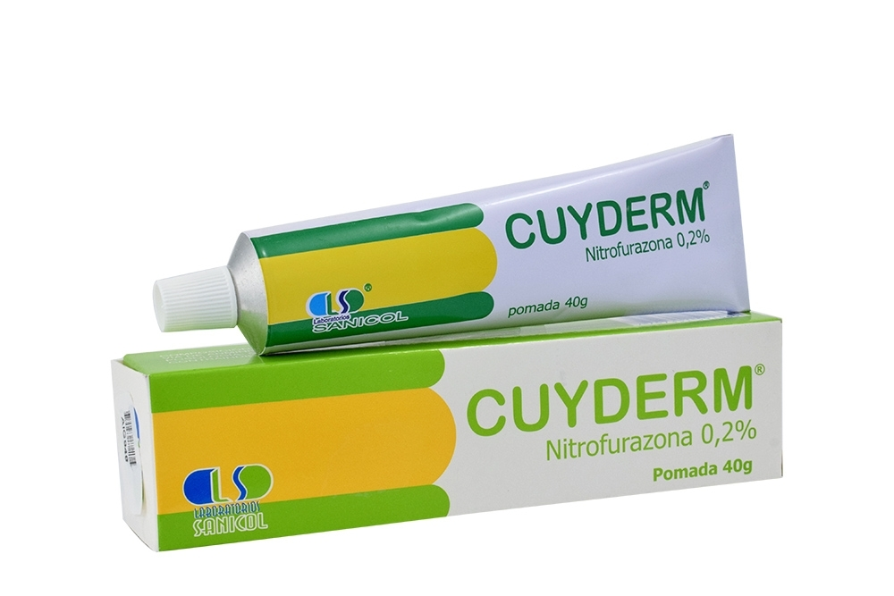 Cuyderm Nitrofurazona 0.2 % Pomada Caja Con Tubo Con 40 g Rx2