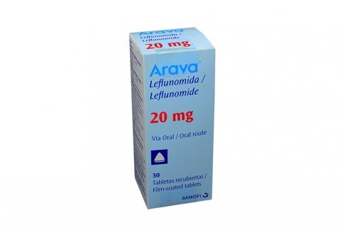 Arava 20 mg Caja Con 30 Tabletas Rx1 RX4