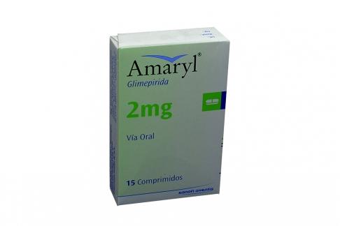 Amaryl 2 mg Caja Con 15 Comprimidos Rx4