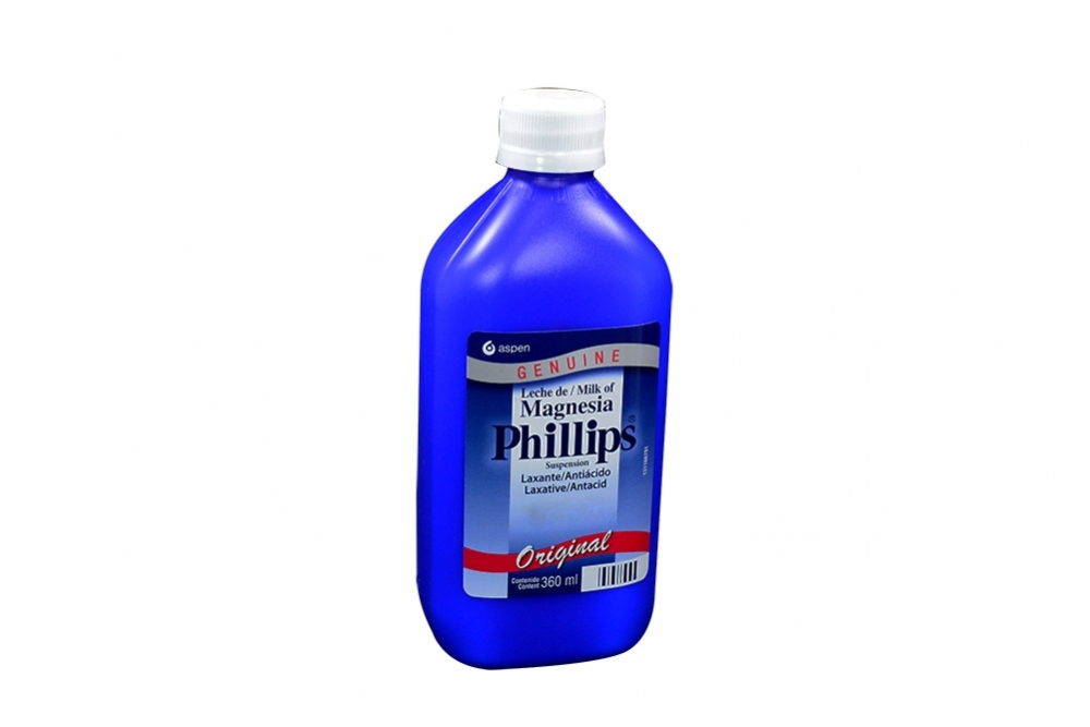 Leche Magnesia Phillips Tradicional Frasco Con 360 mL