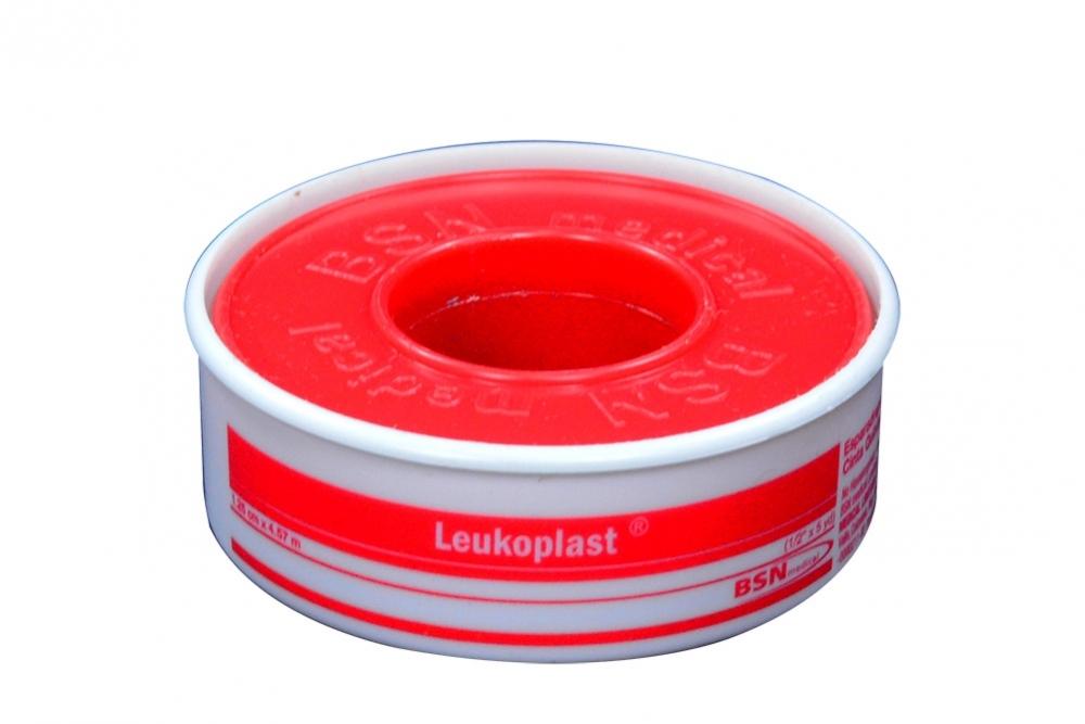 """Leukoplast Esparadrapo De Tela ½"""" x 5 Yardas Empaque Con 1 Unidad"""