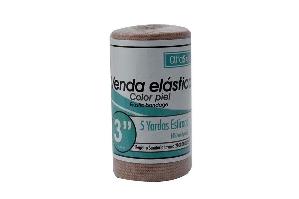 """Venda Elástica 3"""" x 5 Yardas Empaque Con 1 Unidad - Color Piel"""