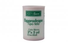 "Alfasafe Esparadrapo Tela Blanco 3"" x 5 Yardas Bolsa Con 1 Unidad"