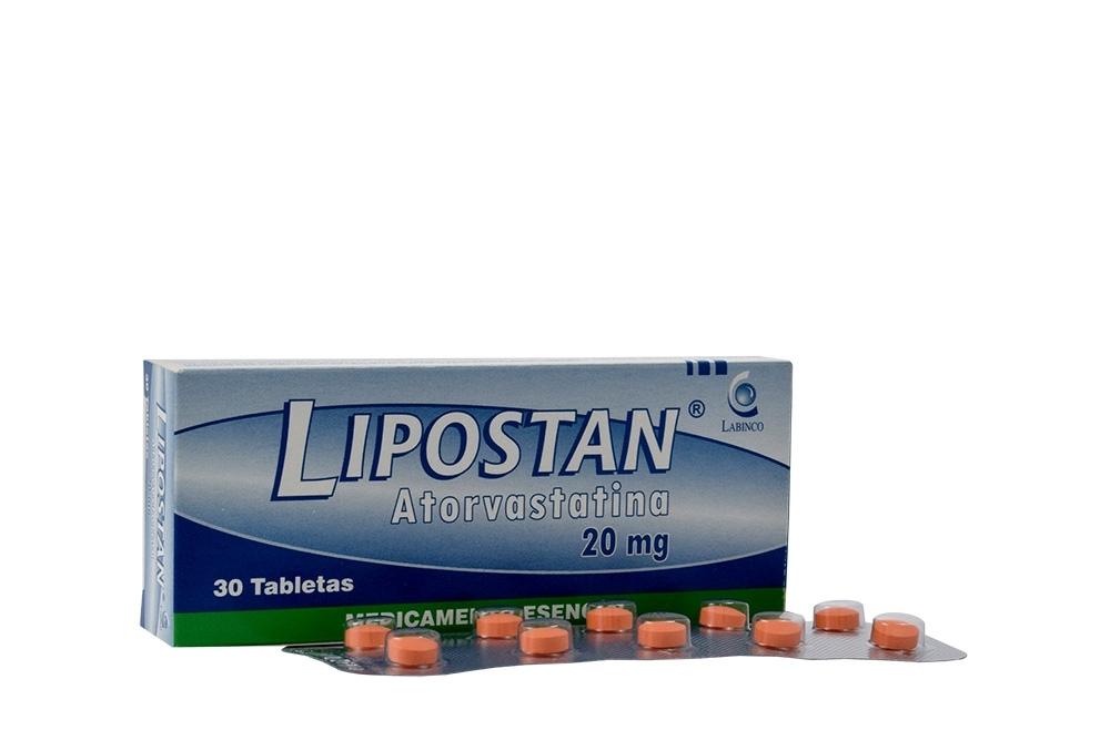 Lipostan 20 mg Caja Con 30 Tabletas Rx