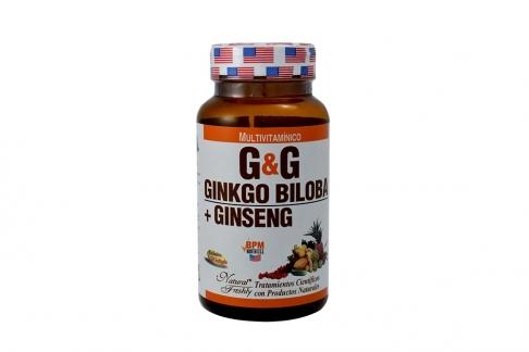 Ginkgo Biloba + Ginseng Frasco Con 50 Perlas