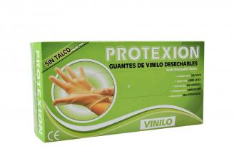 Guante Vinilo Protexion Talla M Caja Con 100 Unidades