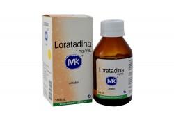Loratadina Jarabe 1mg/ mL Caja Con Frasco Con 100 mL Rx