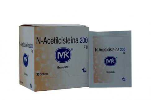 N-Acetilcisteína 200 3 g Caja Con 30 Sobres Rx