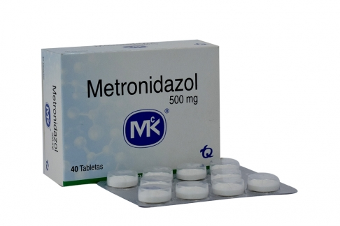 Metronidazol 500 mg  Caja Con 40 Tabletas Rx2