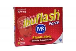 Ibuflash Forte 400 mg Caja Con 8 Cápsulas