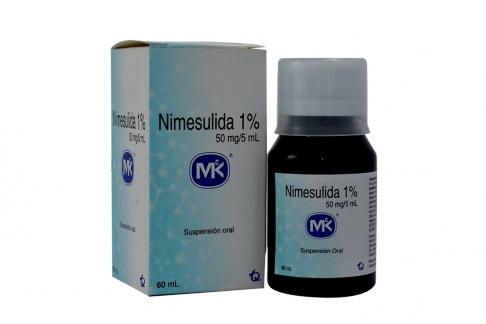 Nimesulida 1 % Suspensión Oral Caja Con Frasco Con 60 mL Rx