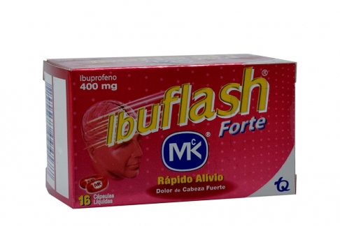 Ibuflash Forte 400 mg Caja Con 16 Cápsulas