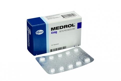 Medrol 4 mg Caja Con 30 Tabletas Rx