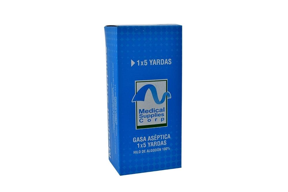 """Medical Gasa Aséptica 1"""" x 5 Yardas Caja Con 1 Unidad"""