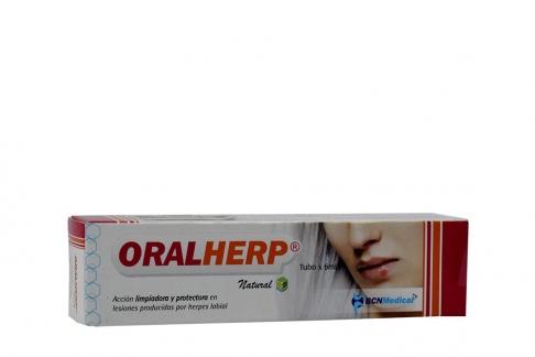 Oralherp Labial Natural Caja Con Tubo Con 6 mL