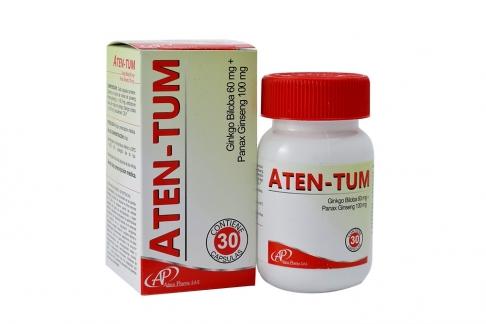 Aten - Tum 60 / 100 mg Caja Con Frasco Con 30 Cápsulas