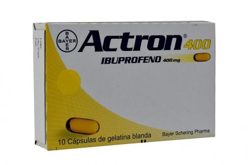 Actron 400 mg Caja Con 10 Cápsulas