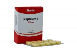 Naproxeno 500 mg Cja Con 10 Tabletas Rx