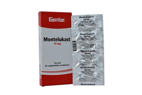 Montelukast 10 mg Caja Con 30 Comprimidos Recubiertos Rx4