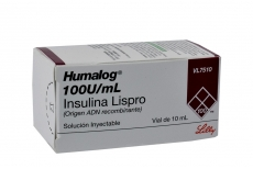 Humalog 100 U / mL Solución Inyectable Caja Con 1 Frasco Vial Con 10 mL Rx1 Rx3 Rx4