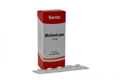 Meloxicam 15 mg Caja Con 30 Comprimidos Rx