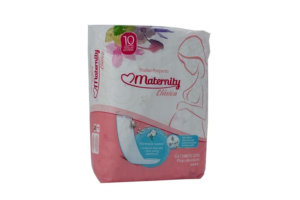 Toalla Maternity Posparto Clásica Empaque Con 10 Unidades