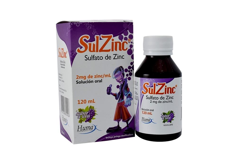 Sulzinc Solución Oral Caja Con Frasco Con 120 mL - Sabor Uva