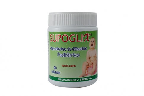 Supoglix Pediatrico Frasco Con 50 Supositorios