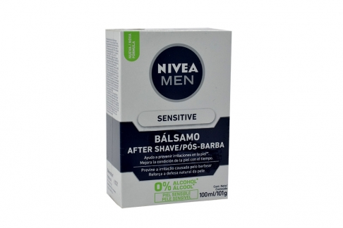 Nivea Men Bálsamo After Shave Caja Con Frasco Con 100 mL – Piel Sensible