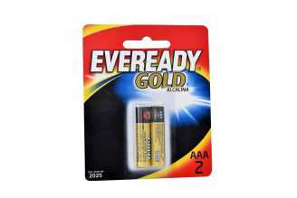 Pilas Eveready Gold Alcalina AAA Paquete X 2