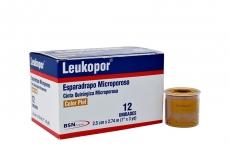 Leukopor Esparadrapo Microporoso 2.5 cm x 2.74 m Caja x 12 Unidades