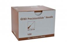 Aguja Hipodermica Bd Precisiones Gline Caja Con 100 Unidades