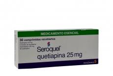 Seroquel 25 mg Caja Con 30 Comprimidos Recubiertos Rx4 RX1