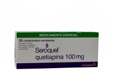 Seroquel 100 mg Caja Con 30 Comprimidos Recubiertos Rx4 RX1