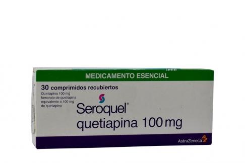 Seroquel Quetiapina 100 mg Caja Con 30 Comprimidos Recubiertos Rx4 Rx1