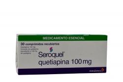 Seroquel Quetiapina 100 mg Caja Con 30 Comprimidos  Rx4 RX1