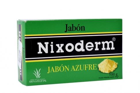 Jabón Nixoderm Azufre 100 g Caja X 1 Barra